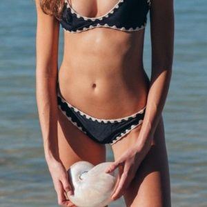 Posh Put Black MAKAI Stitching Bikini Bottom